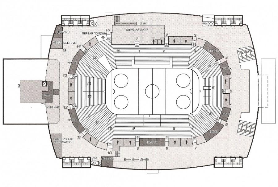 Арена ярославль схема зала